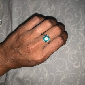Swarovski Crystal Aqua ring